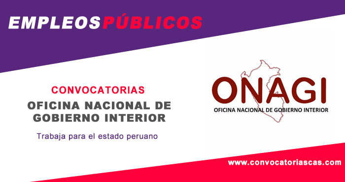Convocatoria onagi 2018 concursos p blicos cas cap 728 for Gobierno interior